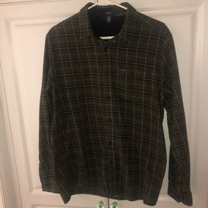 Volcom- Forest Green- Flannel